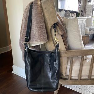 Coach Vintage Bleecker Black Bucket Shoulder Bag